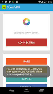 screenshot of SpeedVPN Free VPN Proxy version 1.5.6