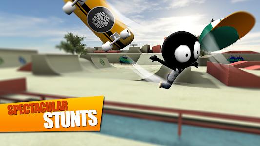 screenshot of Stickman Skate Battle version 1.0.4