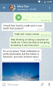 screenshot of Telegram version 5.1.0