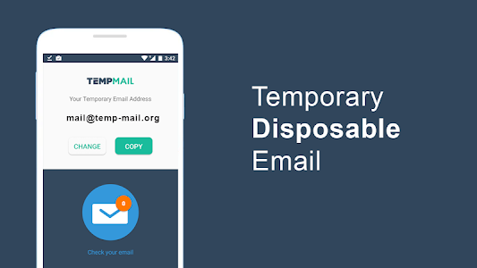 screenshot of Temp Mail - Temporary Email version 1.16