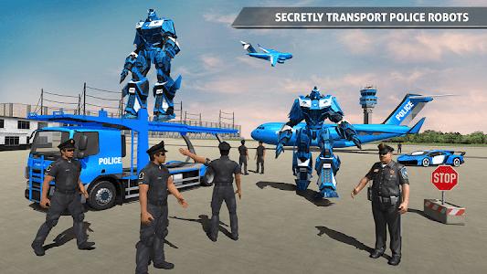 screenshot of US Police Robot Car Game – Police Plane Transport version 1.0.9