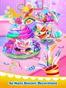 screenshot of Unicorn Food - Sweet Rainbow Cupcake Desserts version 1.2