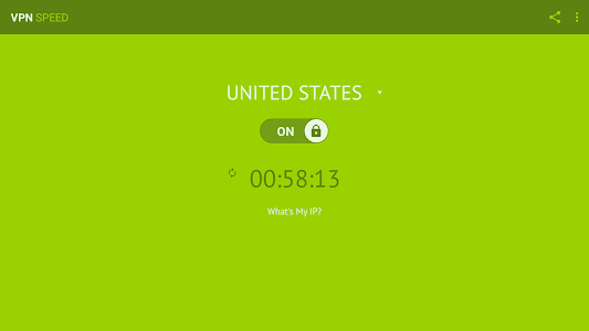 screenshot of VPN Speed (Free & Unlimited) version 1.8.0