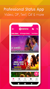 screenshot of VidStatus - Video Status App image & Text version 1.5