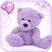 Download Violet Teddy Bear Theme 1.1.1 APK