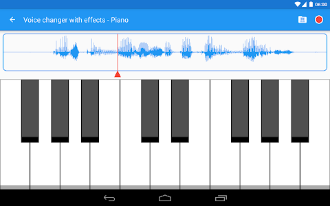 screenshot of Voice changer with effects version 3.4.10