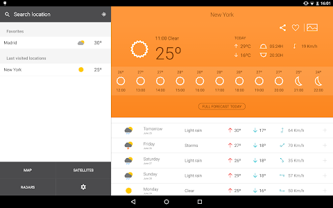screenshot of Weather 14 days version 4.2.4
