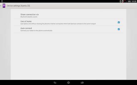 screenshot of Xperia Link™ version 2.6.A.0.0