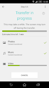 screenshot of Xperia™ Transfer Mobile version 2.1.6