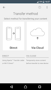 screenshot of Xperia™ Transfer Mobile version 2.2.A.4.38