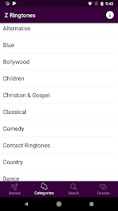screenshot of Z Ringtones PREMIUM 2019 version 2.0