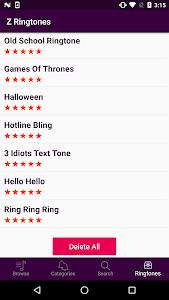 screenshot of Z Ringtones - TOP 2017 version 1.1