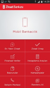 screenshot of Ziraat Mobil version 1.1.8