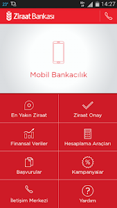 screenshot of Ziraat Mobil version 1.0.8