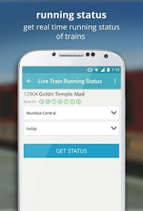 screenshot of Indian Rail Train PNR Status version 3.2.10
