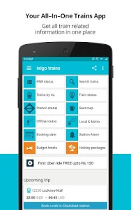 screenshot of Indian Rail Train PNR Status version 3.3.3