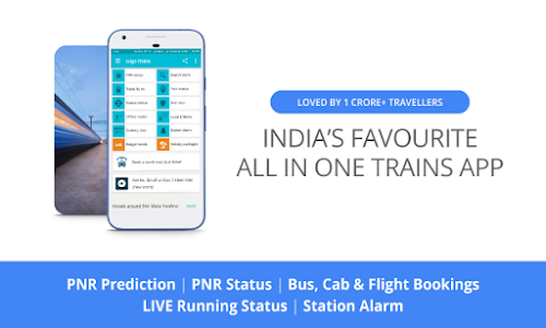 screenshot of Indian Rail Train PNR Status version 3.3.3