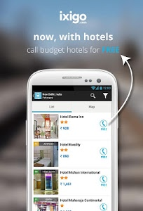 screenshot of indian rail train cheap hotels version 2.6.1